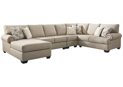 Baceno Hemp 4-Piece Sectional with Chaise