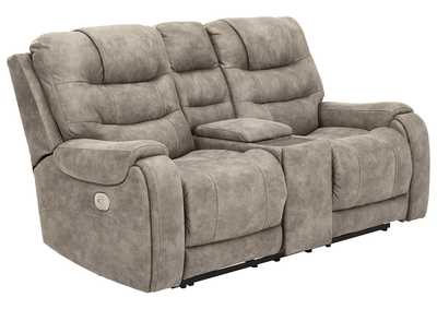 Image for Yacolt Power Reclining Loveseat with Console