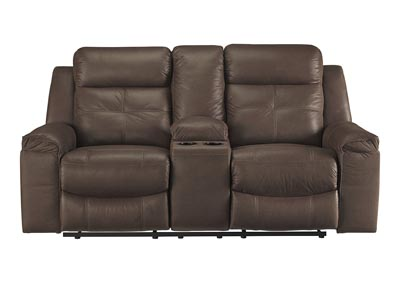 Image for Jesolo Coffee Double Reclining Loveseat w/Console