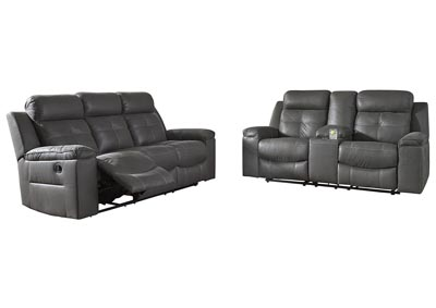 Jesolo Dark Gray Reclining Sofa & Loveseat