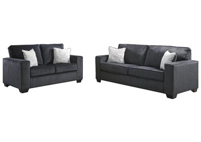 Altari Slate Sofa & Loveseat,Signature Design By Ashley