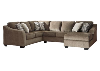 Image for Graftin Teak Right-Arm Facing Chaise Sectional