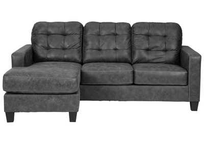 Image for Venaldi Gunmetal Sofa Chaise