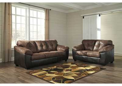 Gregale Coffee Sofa and Loveseat