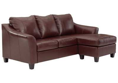 Image for Fortney Mahogany Sofa Chaise