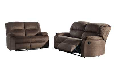 Bolzano Coffee 2 Seat Reclining Sofa & Loveseat