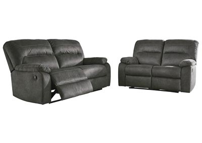 Image for Bolzano Slate Reclining Sofa & Loveseat