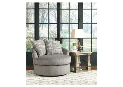 Soletren Ash Swivel Accent Chair w/2 Pillows,Signature Design By Ashley
