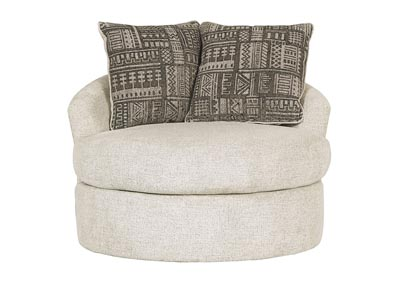 Soletren Stone Swivel Accent Chair w/2 Pillows