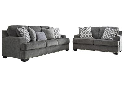 Image for Locklin Carbon Sofa & Loveseat w/7 Pillows