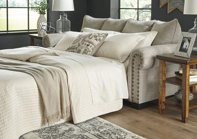 Image for Zarina Jute Queen Sleeper Sofa w/5 Pillows