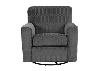 Zarina Graphite Swivel Accent Chair,Signature Design By Ashley