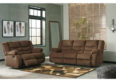 Image for Tulen Chocolate Reclining Sofa and Loveseat