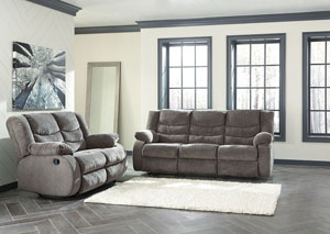 Image for Tulen Gray Reclining Sofa and Loveseat