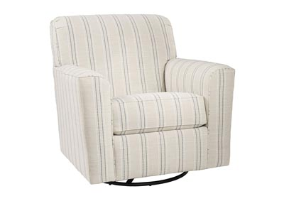 Alandari Gray Swivel Glider Accent Chair,Signature Design By Ashley