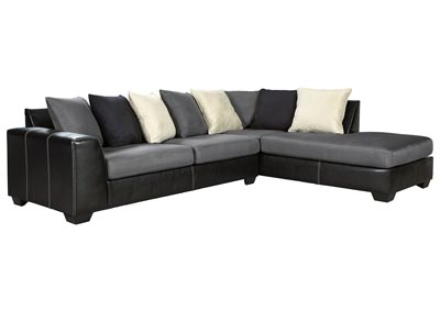 Jacurso Charcoal RAF Chaise Sectional,Signature Design By Ashley