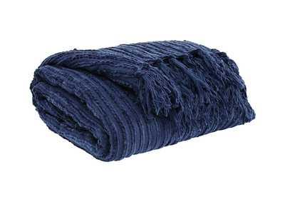 Image for Noland Navy Throw (3/CS)