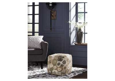 Bayrose Multicolor Pouf,Signature Design By Ashley