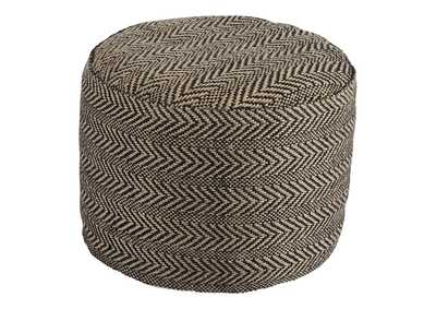 Image for Chevron Natural Pouf