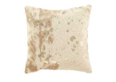 Landers Cream/Gold Pillow (4/CS)