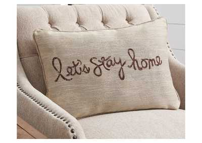 Image for Lets Stay Home Brown Pillow (Set of 4)