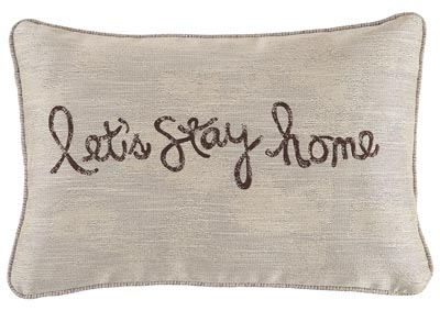 Image for Let's Stay Home Chocolate Pillow (Set of 4)