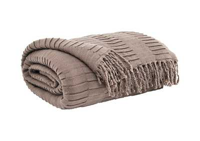 Mendez Taupe Throw (Set of 3)