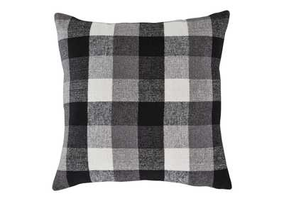 Image for Carrigan Black/White 4 Piece Plaid Fabric Pillow Set