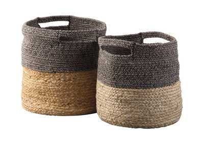 Image for Parrish Natural/Black Basket Set (Set of 2)