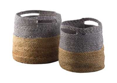 Image for Parrish Natural/Blue Basket Set (Set of 2)
