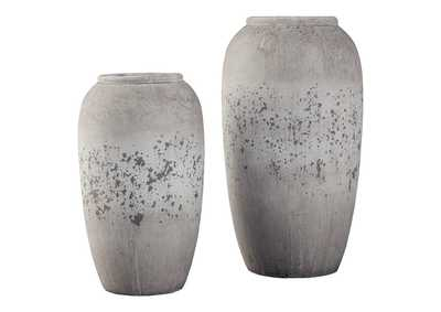 Image for Dimitra Brown/Cream Vase Set (Set of 2)