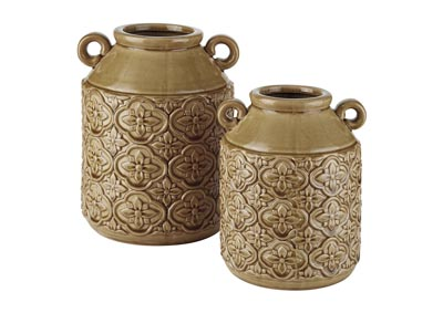 Edaline Ochre Vase (Set of 2),Signature Design By Ashley