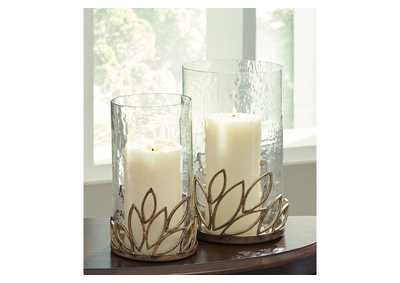 Pascal Antique Gold Candle Holder Set (Set of 2)