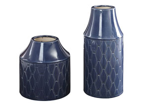Image for Caimbrie Navy Vase (Set of 2)