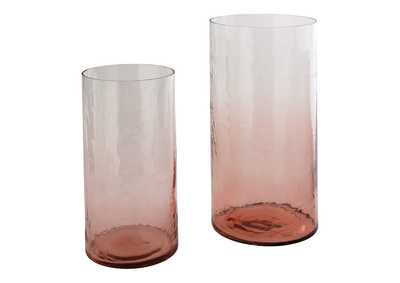 Image for Devona Pink Vase (Set of 2)