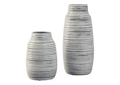 Image for Obrian Antique Gold Finish Vase Set (Set of 2)