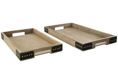 Image for Missa Brown Tray (Set of 2)