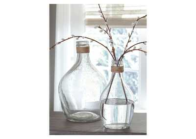 Image for Marcin Clear Vase Set (Set of 2)