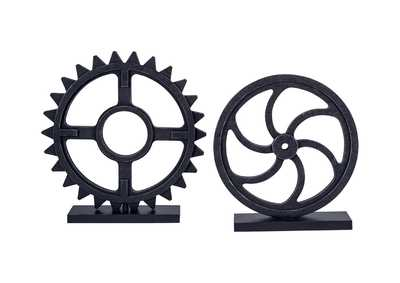 Image for Dermot Antique Black Sculpture Set (Set of 2)