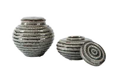 Image for Devonee Antique Gray Jar Set