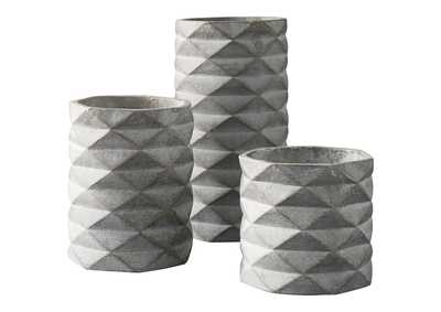 Image for Charlot Gray Vase (Set of 3)