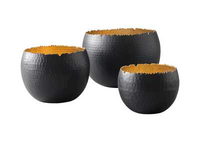 Image for Claudine Black/Gold Finish Bowl Set (Set of 3)