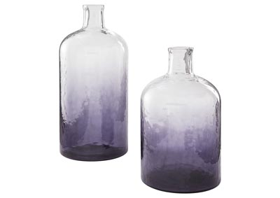 Image for Maleah Purple Vase Set (Set of 2)