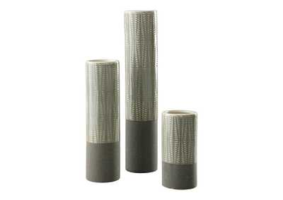 Image for Elwood Gray Vase (Set of 3)