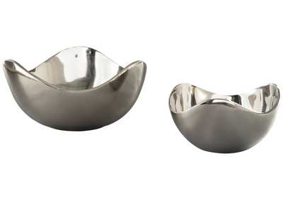Donato Chrome Bowl Set (2 per Set)