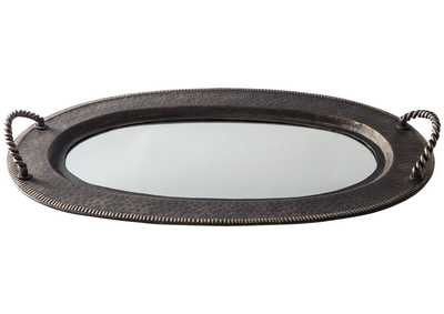 Image for Milena Antique Gold Finish Tray