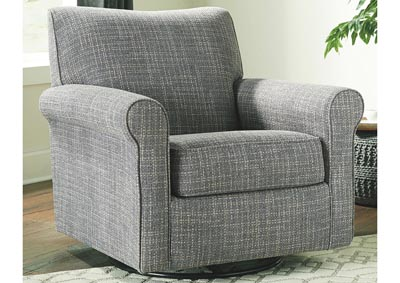 Renley Gray Swivel Glider Chair