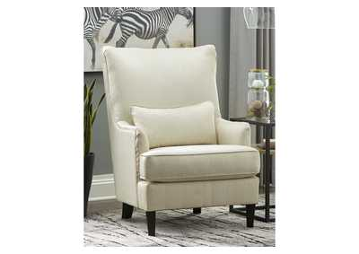 Paseo White Accent Chair