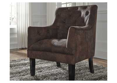 Drakelle Mahogany Fabric Accent Chair,Signature Design By Ashley