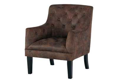 Image for Drakelle Mahogany Fabric Accent Chair